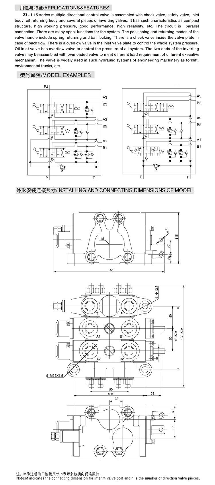 medium resolution of zl15 3 manual hydraulic control valve 3 way solenoid valve 24v