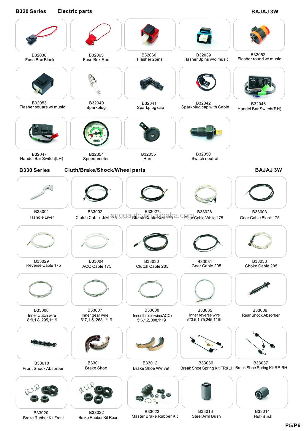 For Bajaj Auto Rickshaw Spare Parts in India, View bajaj