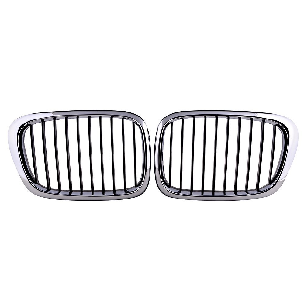 Buy Front Grille (Chrome Frame with Black Grille) Set of 2