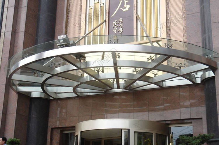 Guangdong Curved Glass Canopy ManufacturerFoldable