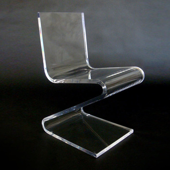z shaped high chair padded folding clear acrylic lucite