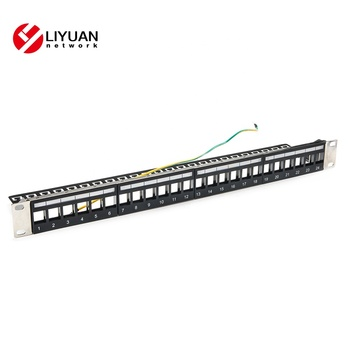 LY-BPP04-1S24P Cat6A 24 Ports UTP Blank Patch Panel, View