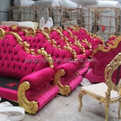 Alibaba Royal Chairs Real Leather Recliner Manufacturing European Hot Pink Furniture Sofa Set Buy