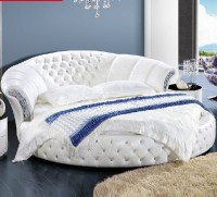 Modern Design Pure White Genuine Leather Round Bed - Buy ...