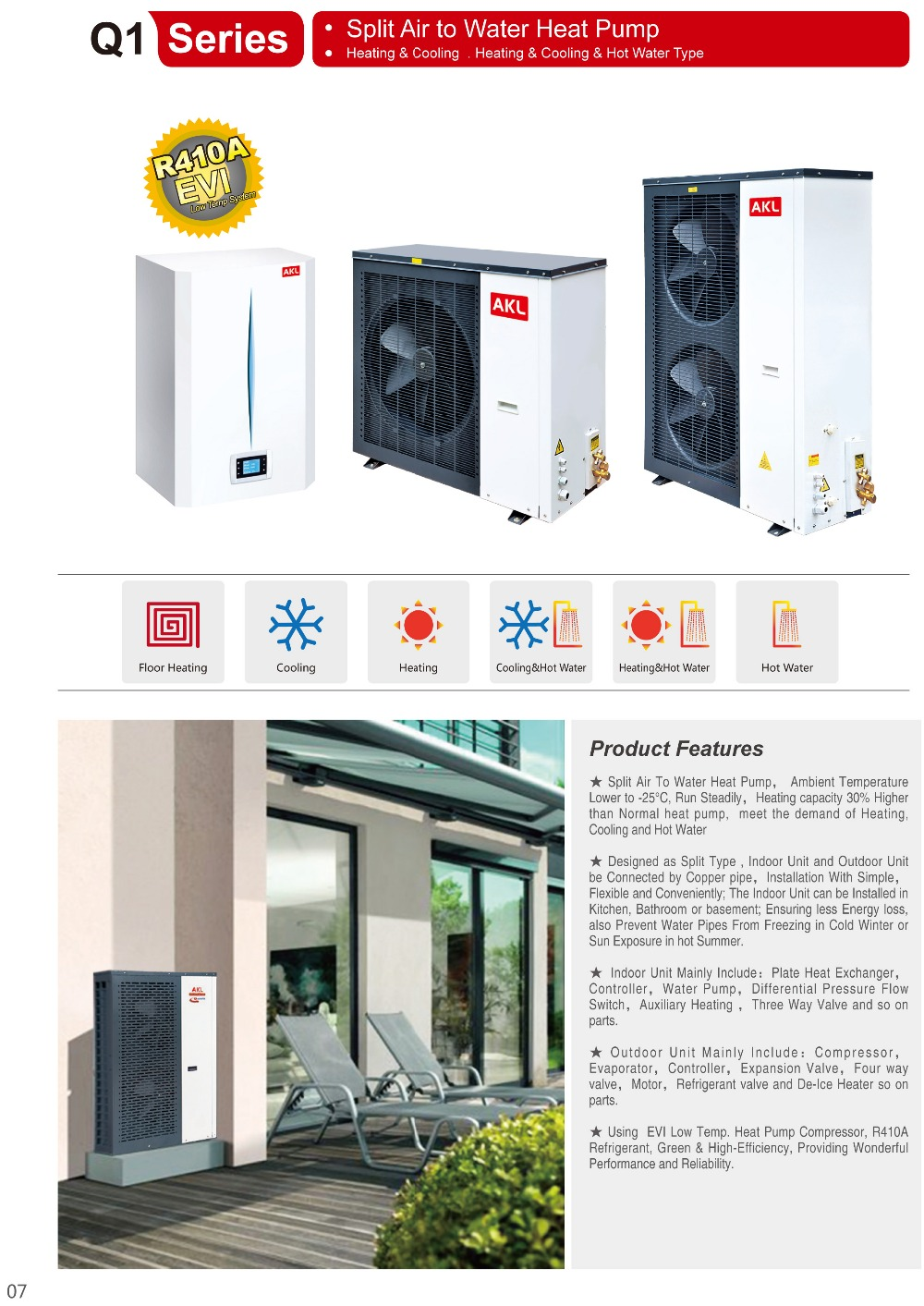 hight resolution of split air to water heat pump floor heating heaing cooling hot water evi heat