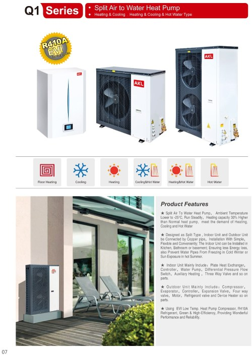 small resolution of split air to water heat pump floor heating heaing cooling hot water evi heat