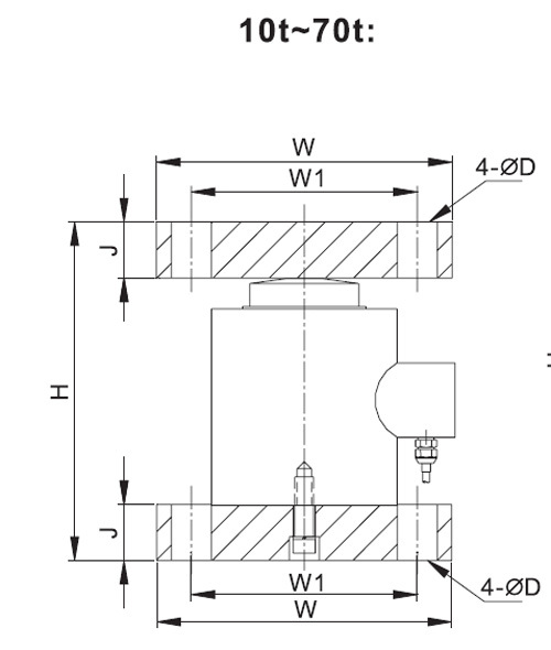 Sc4810m Column Compression Load Cells Weighing Module