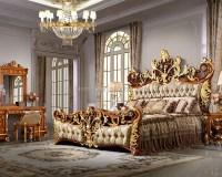 Bisini Luxury Palace King Size Bed,Royal Golden King Size ...