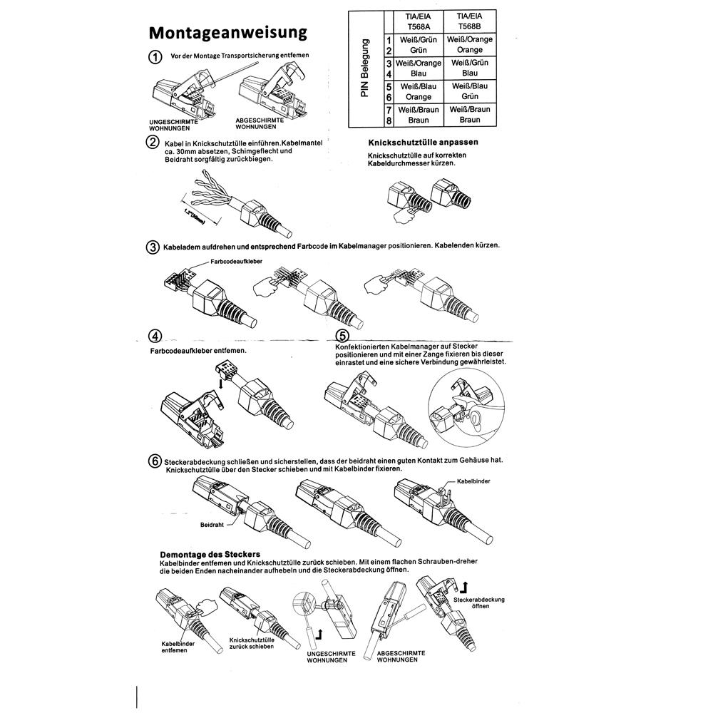 Cat6a Rj45 Plug Toolless,Tool-less Rj45 Cat6a Connector