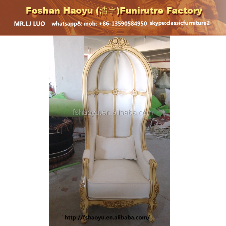 french canopy chair beige covers for weddings antique white wedding throne view