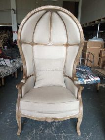 French Provincial Canopy Birdcage Chair Vintage Limed