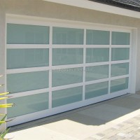 Modern Aluminum Frame Full View Glass Panel Garage Door ...