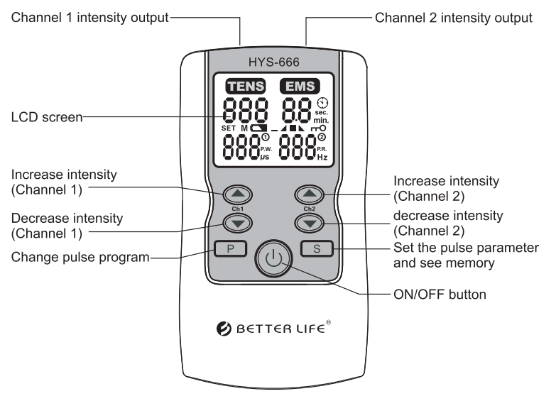 Electronic Pulse Acupuncture Stimulator Tens Therapy