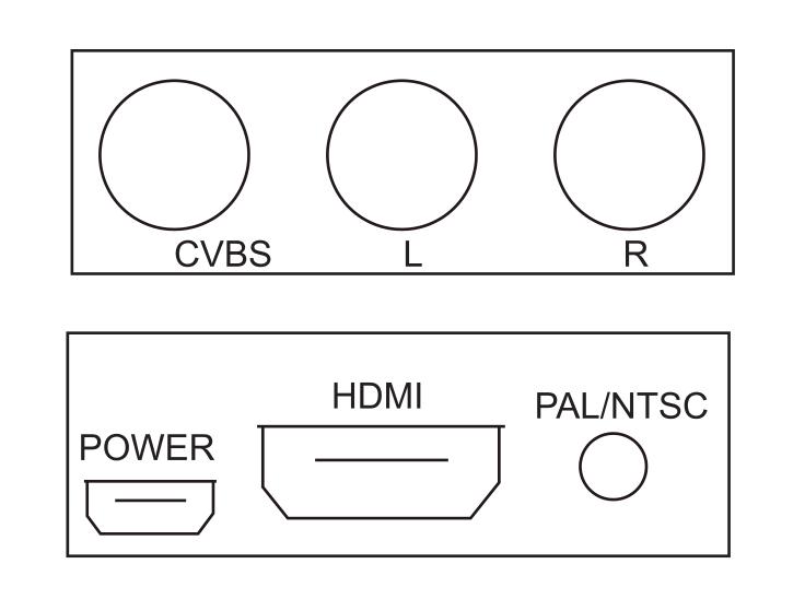 New Plastic Hdmi To Av Converter For Tv / Vhs Vcr Players