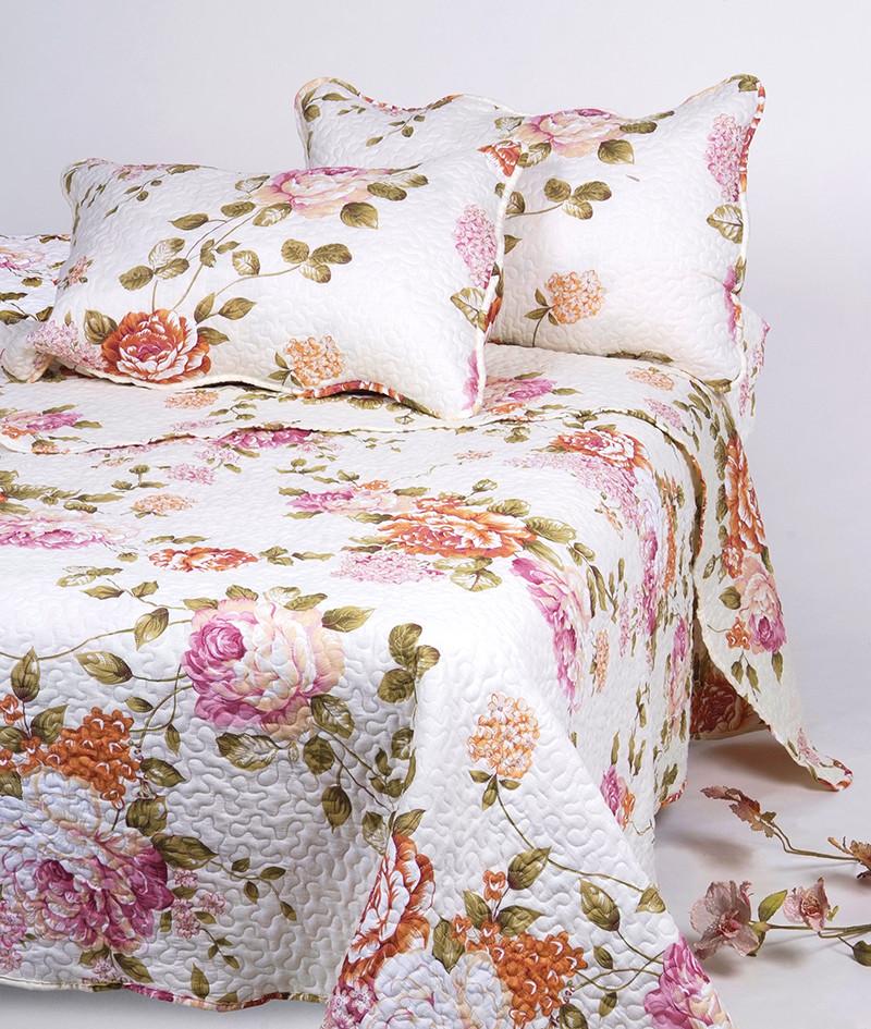 3pcs Custom Color Printed Flower Patchwork Bed Sheet