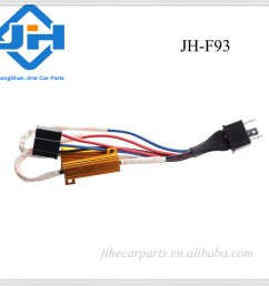 auto h4 9003 hid conversion kit error free load resistor wiring harness adapter [ 1000 x 1000 Pixel ]