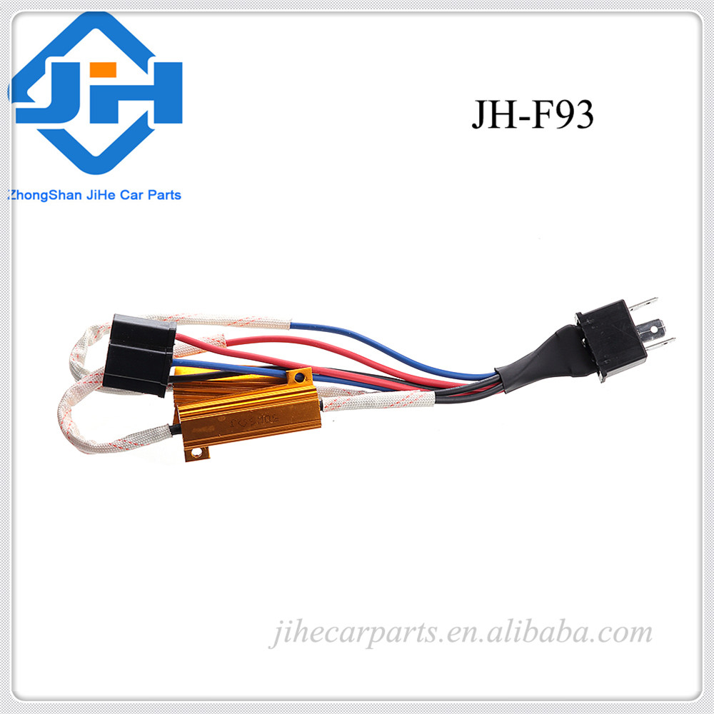 hight resolution of auto h4 9003 hid conversion kit error free load resistor wiring harness adapter