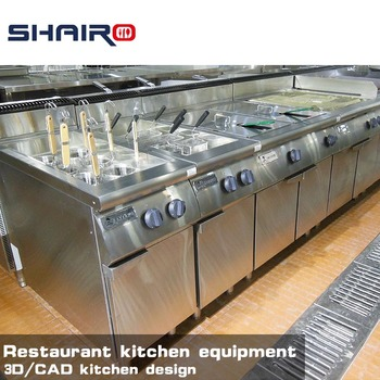 kitchen equipment used prefab shairo top series commercial stainless steel catering