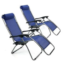 Zero Gravity Pool Chairs Pewter Chair Cheap Reclining Find Deals On Line Get Quotations Navy Lounge Beach Outdoor Set Of 2