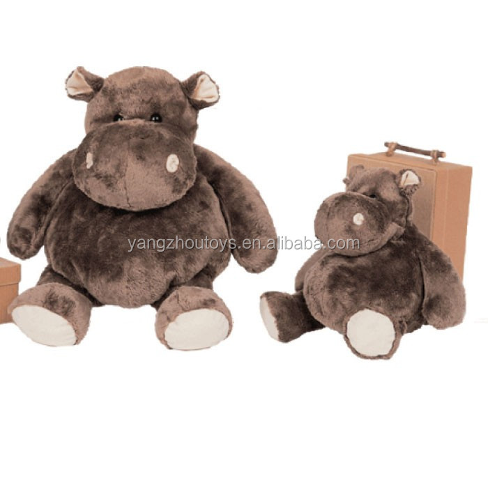 stuff brown hippo plush