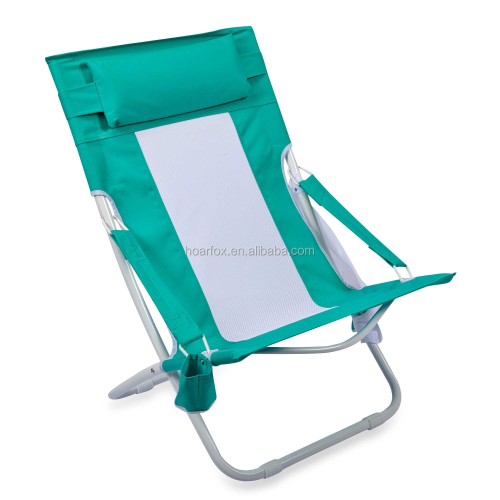 beach chair cup holder elderly chairs electric folding hammock in blue with buy