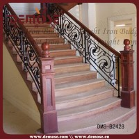 Residential Wrought Iron Stair Railing/balustrade Grill ...