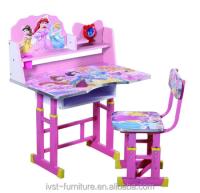 Modern Princess Cartoon Kids Study Table And Chair Design