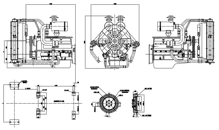 Kai-pu Used For Generator Type Diesel Engine Assembly