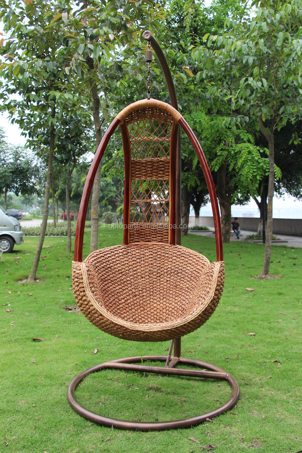 Hanging Rattan Swing Chair Mid Century Wickereggbamboo