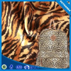 Animal Skin Chair Covers Little Tikes Large Table And Chairs Polyester Short Pile Pattern Printing Velboa Fabric For Cover Clothes Lining