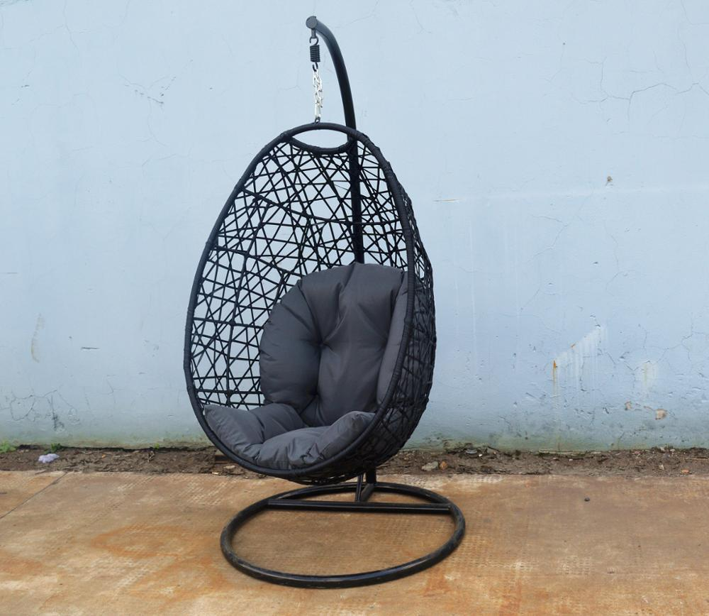 Hanging Patio Chair Wicker Hanging Egg Chair W Stand Outdoor Patio Chair Drop Shape Outdoor Swing Egg Trapeze Wicker Rattan Hanging Basket Chair Buy Outdoor Swing