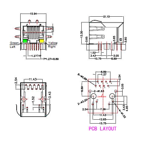 Professional Manufacturer Lan Ethernet Splitter Rj45 Jack