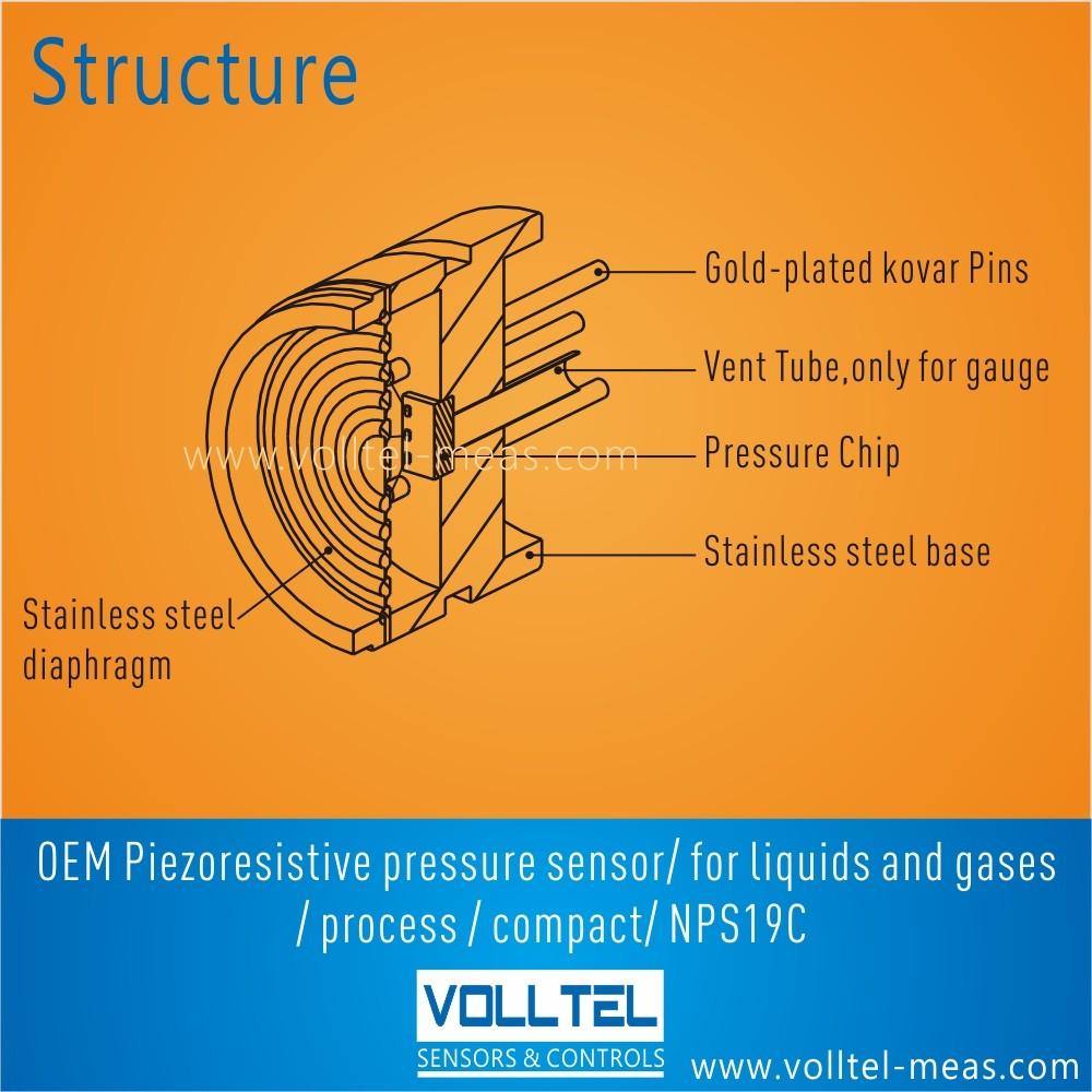 medium resolution of nps19c oem piezoresistive pressure sensor diameter 19mm