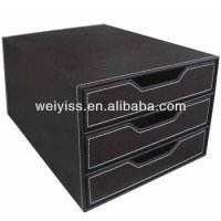 Leather Hanging Office Desk /cubicle /wall Organizer For ...