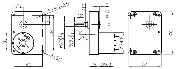 Dsd-70ss3525 70mm High Torque Low Rpm Dc Motor 24v 12v Dc