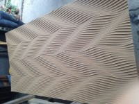 Wall Decoration 3d Wave Mdf Board/corrugated Wall Panel ...