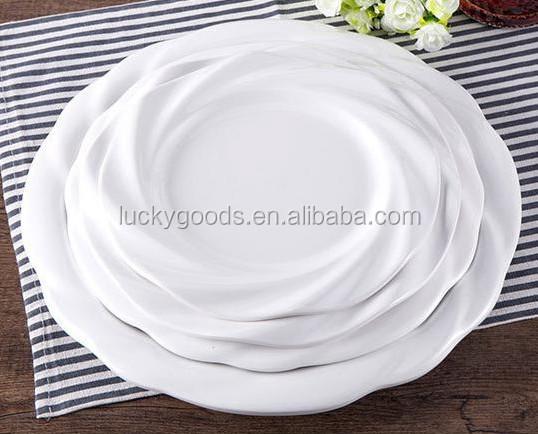 Bulk White Melamine Christmas Plates Dinner Plates