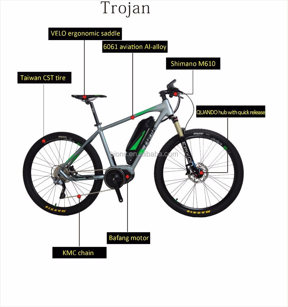 New Design Bafang Mid Drive Motor 5 Levels Pedal Electric