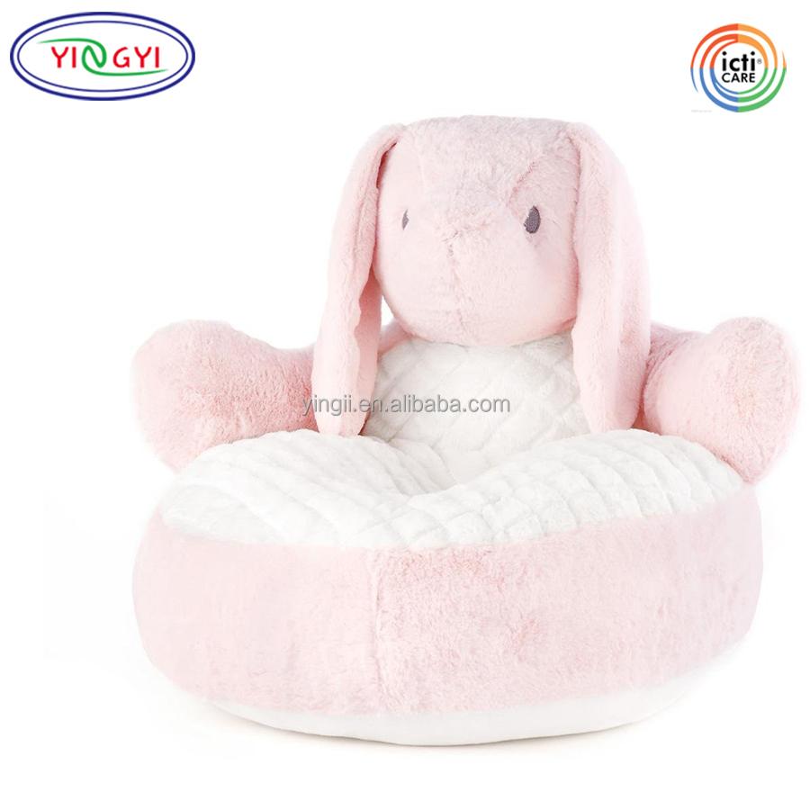 childrens chairs soft masonic for sale f275 animal bunny shaped stuffed plush furry chair