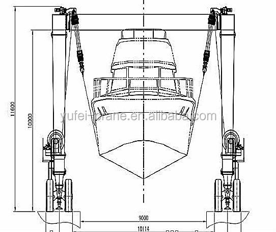 2015 Hot Sale Mobile Boat Lift /yacht Lift Gantry Crane