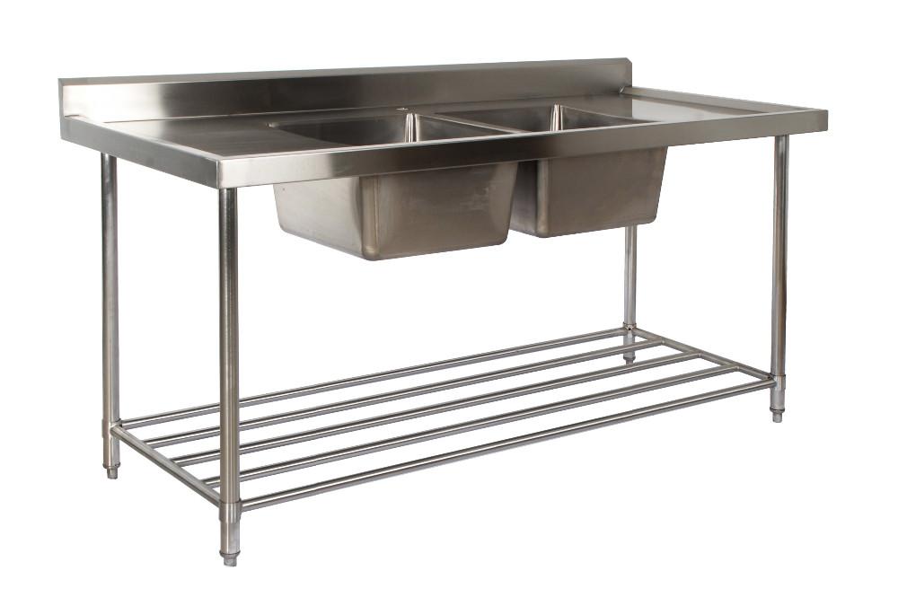 commercial freestanding stainless steel double drain board kitchen sink buy double drain board kitchen sink stainless steel kitchen sink with drain