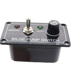 baoblaze black 12v marine bilge pump with fused circuit breaker rocker switch manual off  [ 1024 x 1024 Pixel ]