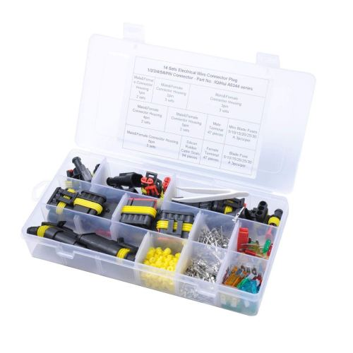 small resolution of get quotations winomo waterproof electric wire connectors set connectors insulated wiring terminals heat shrink quick locking wire harness