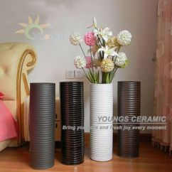 Floor Vases For Living Room Singapore With Leather Sectional Asia Tall Ceramic Cylinder Shape Modern Lots Of Colours