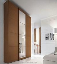 Bedroom Closet Wood Wardrobe,Plywood Cabinets Wall Almirah ...