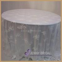 Tcap05a Elegant White Lace Table Overlays Fancy Wedding ...