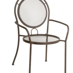 Metal Stacking Chairs Outdoor Baby High Chair Walmart Garden Patio Wrought Iron Mesh