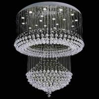 Modern Chandelier Rain Drop Lighting Crystal Ball Fixture ...