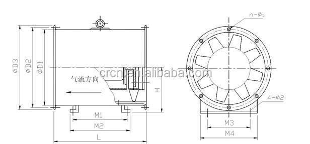 Exhaust Fan Wholesale Silent Tunnel Ventilation Fan Axial