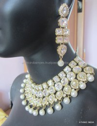 Pearl Choker Necklace And Earrings Hot Womens Wedding